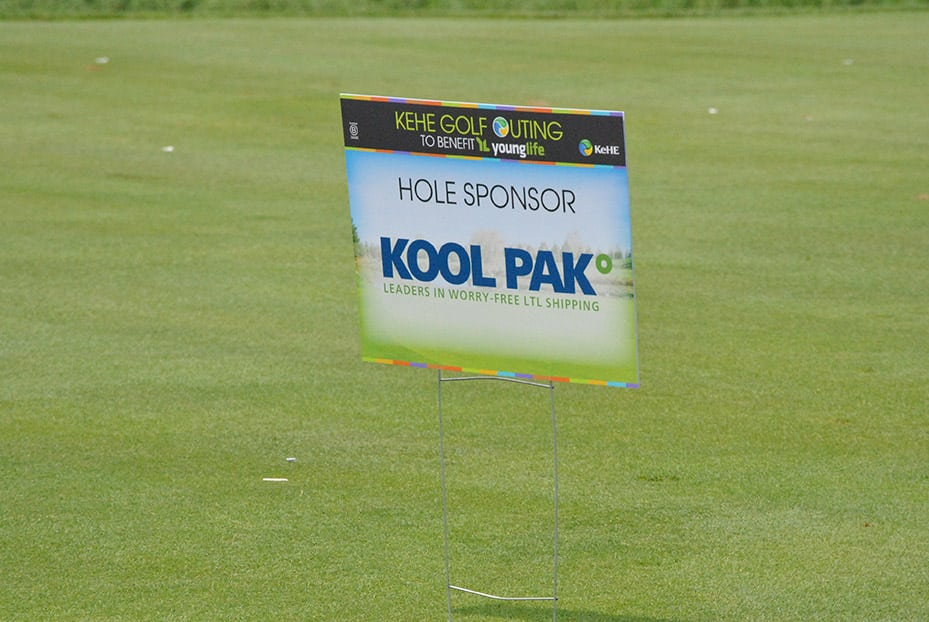 KeHE Golf Outing 2018 sponsorship sign